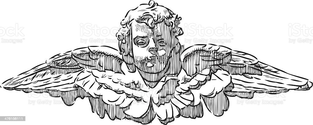 head of an angel royalty-free stock vector art