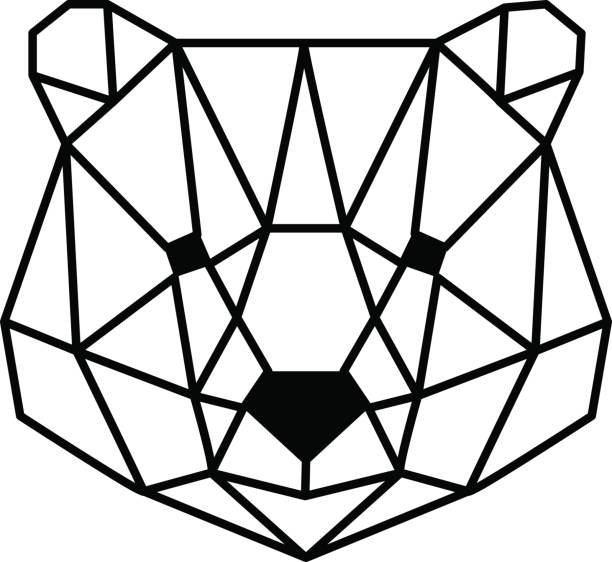head of bear vector art illustration