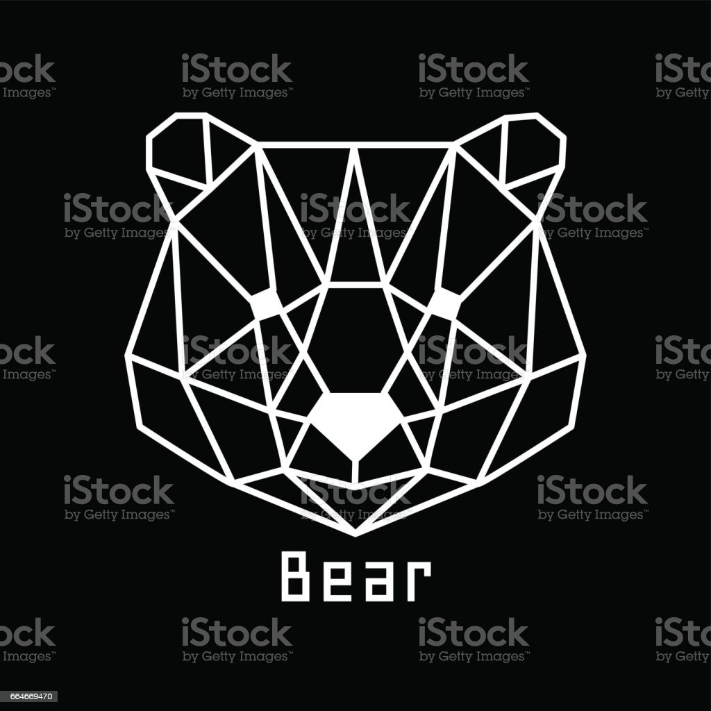 head of bear vector art illustration