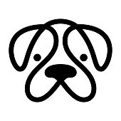 Head of dog. Vector icon