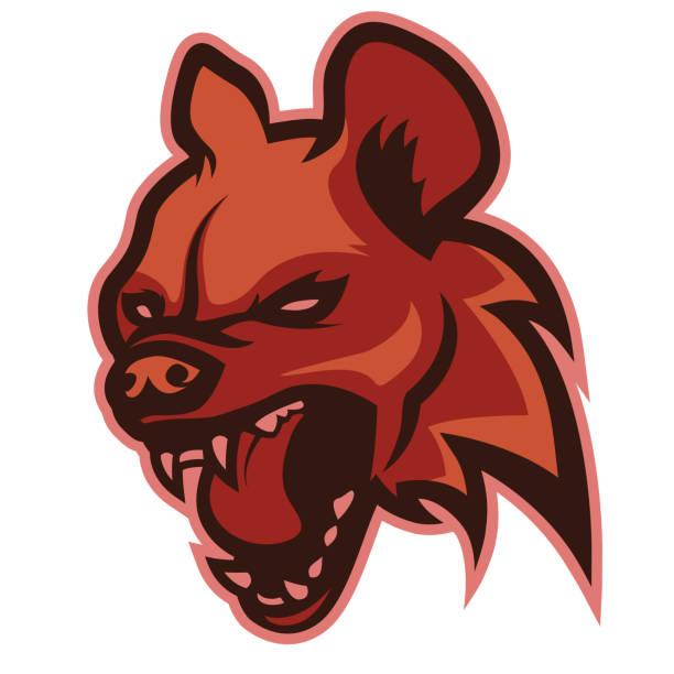 stockillustraties, clipart, cartoons en iconen met hoofd van het kwaad hyena, logo - hyena