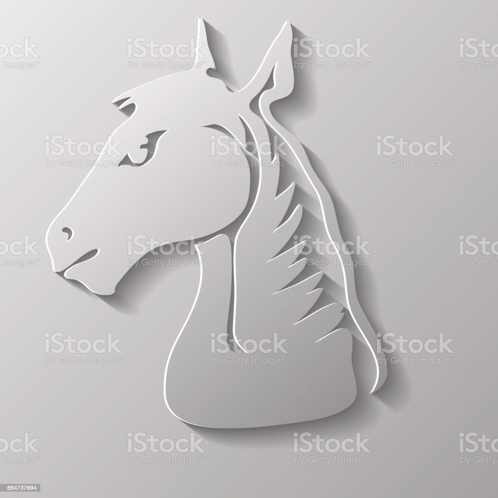 Head of Horse vector art illustration