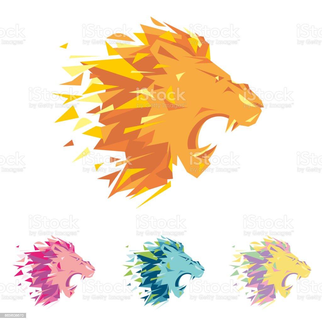 ライオンの頭部は、同社のビジネス、スポーツ クラブ、ブランドの服や機器のコーポレートアイデンティティの歌うテンプレートです。レオのうなり声は、その歯を見せて口を開いた。男性の深刻なラベルです。 ベクターアートイラスト