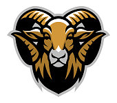vector of Head of ram mascot