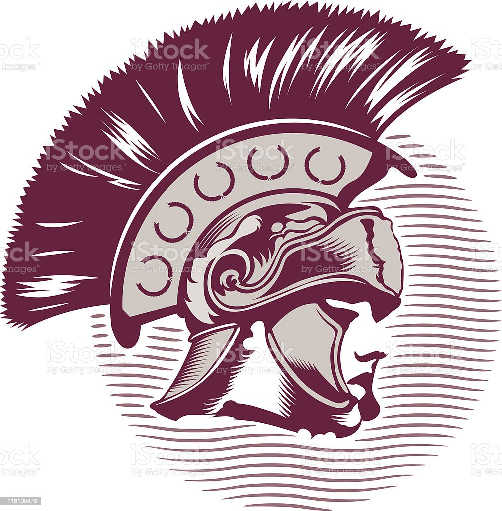 Head of Roman soldier royalty-free stock vector art