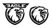 Head of the eagle, monochrome logo.