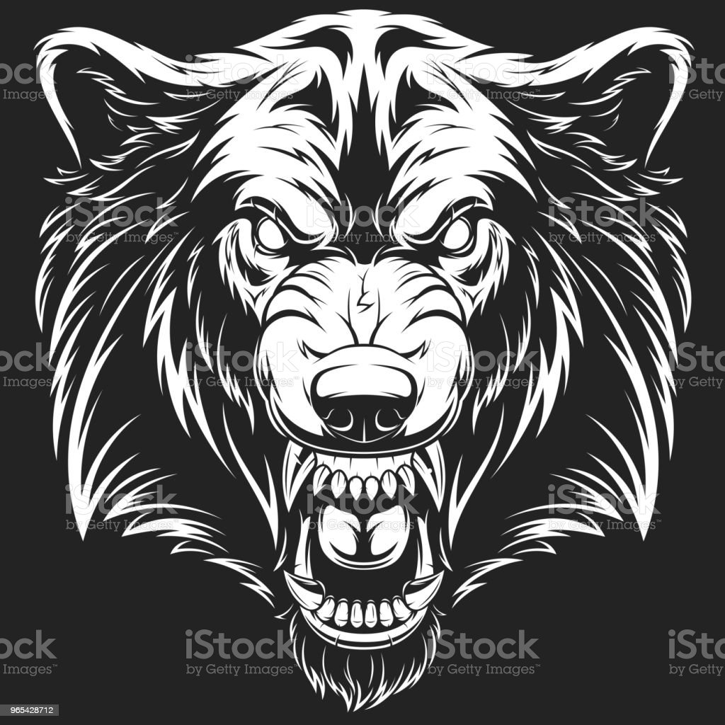 Head of the ferocious wolf royalty-free head of the ferocious wolf stock vector art & more images of abstract