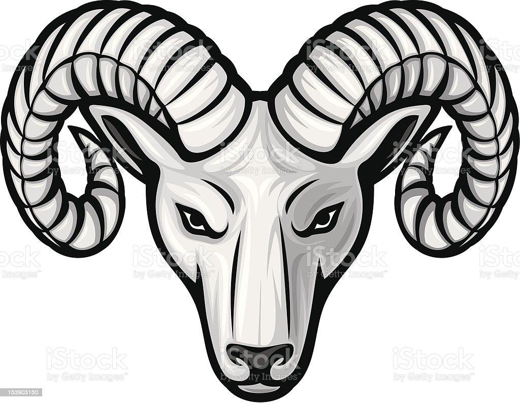 head of the ram royalty-free stock vector art