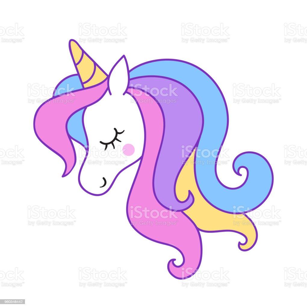 Ilustracion De Cabeza De Unicornio Elemento De Diseno Para