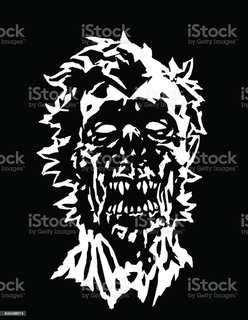 Head of vampire character concept. Vector illustration. vector art illustration