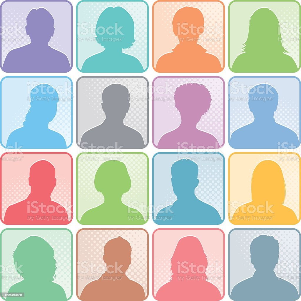 Head People Icons royalty-free stock vector art