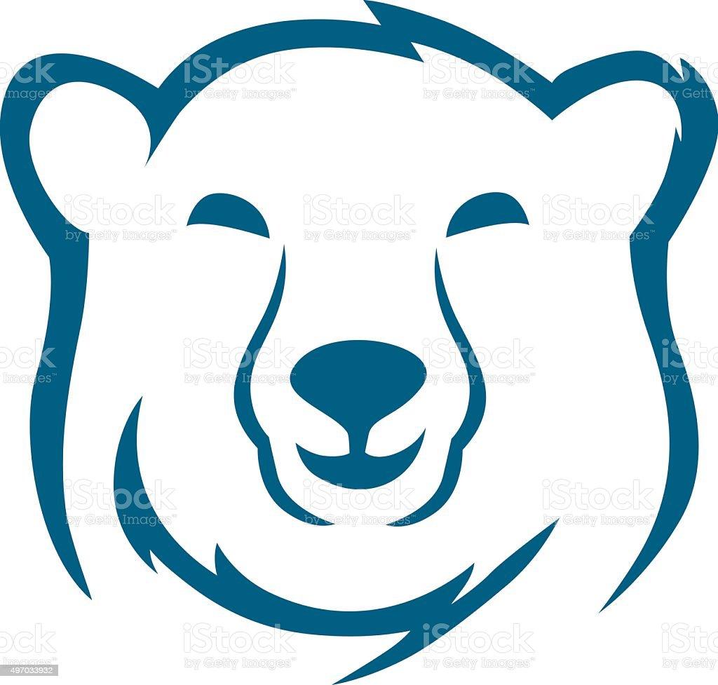 Head polar bear sketch vector art illustration