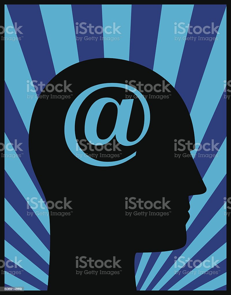 Head Profile At Symbol royalty-free stock vector art