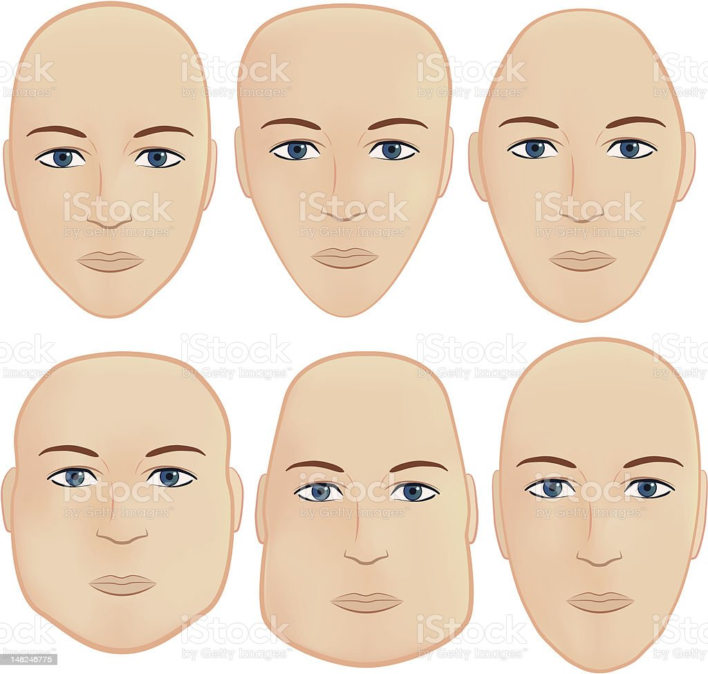 Head shapes royalty-free head shapes stock vector art & more images of curve