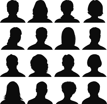 Head Silhouette Icons clipart