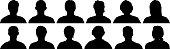 Head silhouettes.