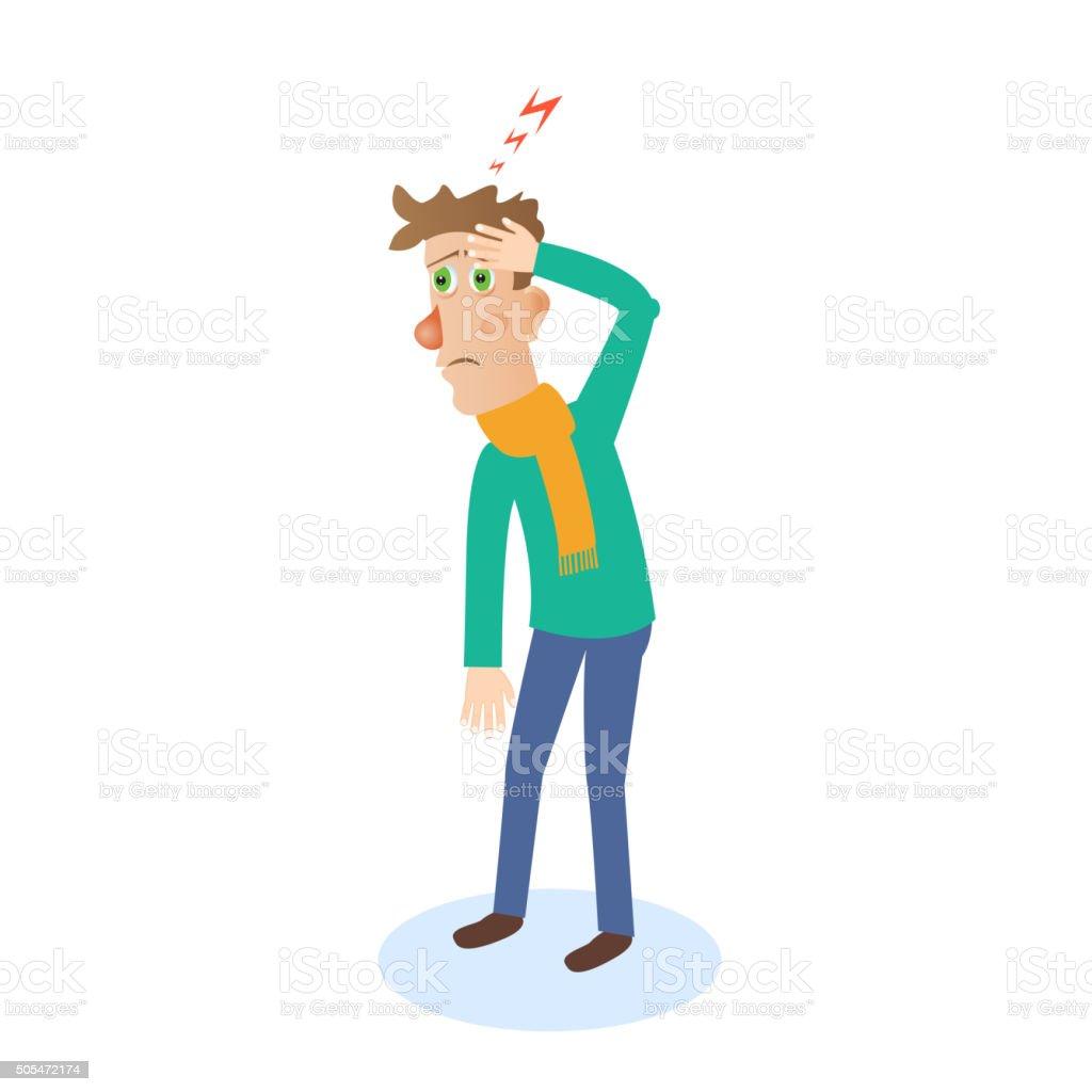 頭痛攻撃ますヘッドの痛みベクトルイラスト アイコンのベクターアート