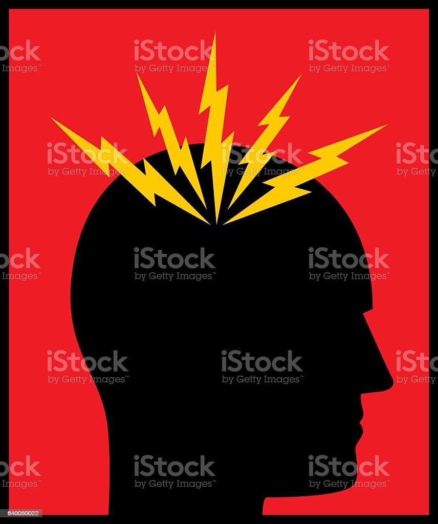 Headache Bolts icon vector art illustration