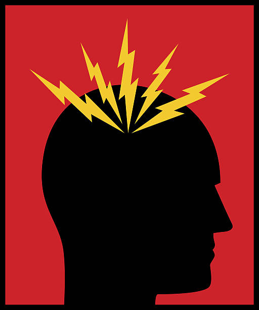 Headache Bolts icon Vector illustration of a headache icon. headache stock illustrations