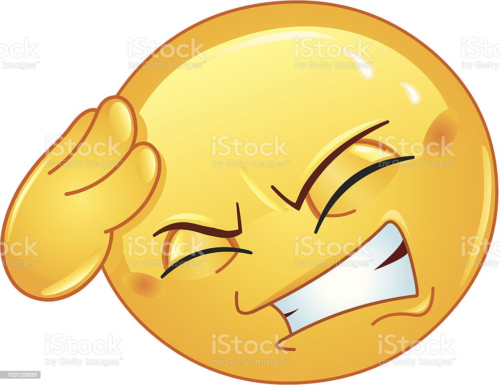 Headache emoticon royalty-free headache emoticon stock vector art & more images of adult
