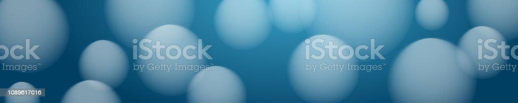 Rúbrica de globos, burbujas y bolas, borrosas sobre fondo azul, ilustración vectorial - ilustración de arte vectorial
