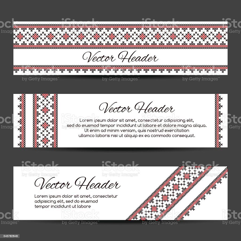 Header or banner design template vector art illustration