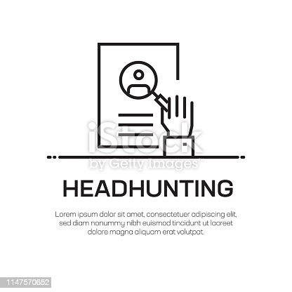 Headhunting Vector Line Icon - Simple Thin Line Icon, Premium Quality Design Element