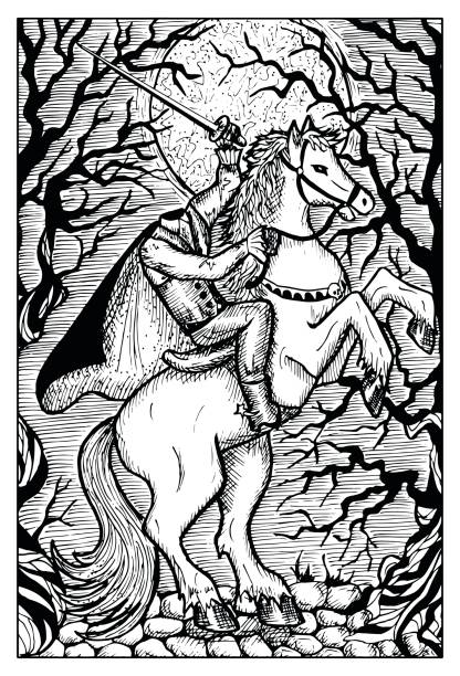 無頭騎士在月圓夜 - 被砍頭 幅插畫檔、美工圖案、卡通及圖標