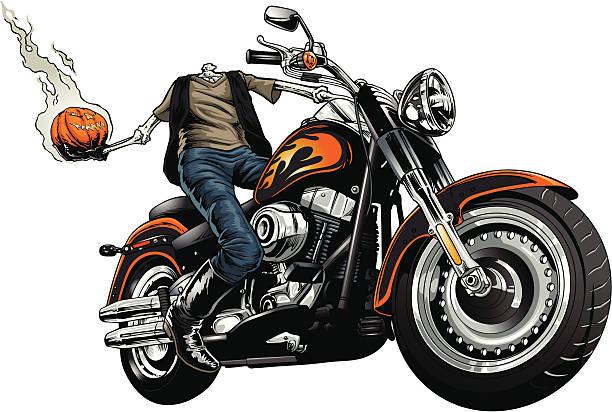 Headless Rider vector art illustration