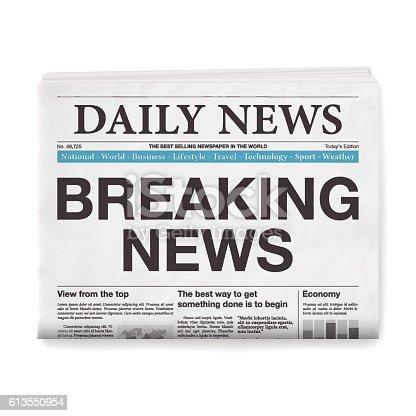 Newspaper headline :
