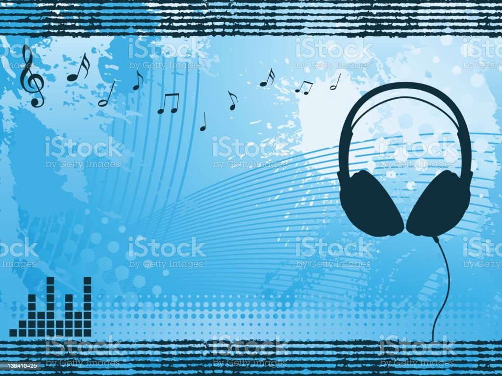 Headphone Background royalty-free headphone background stock vector art & more images of audio equipment