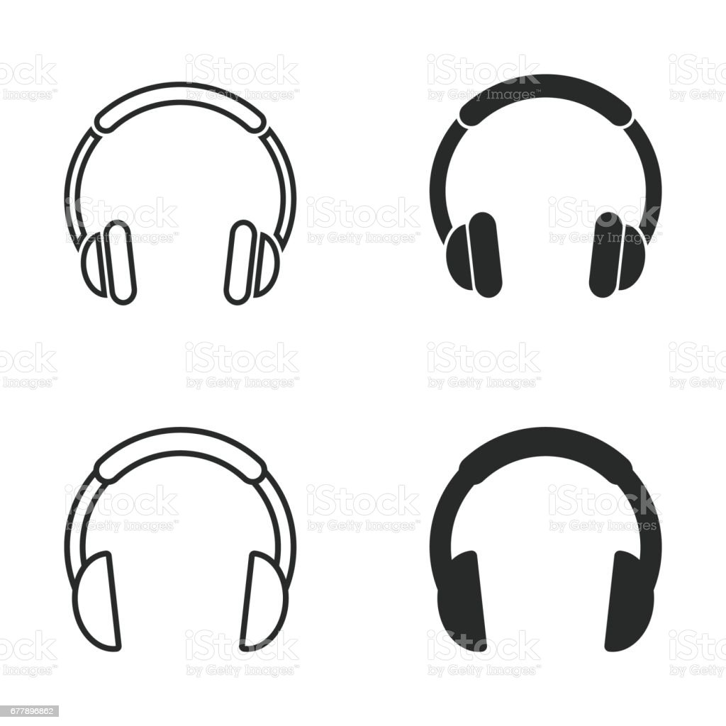 Headphone icon set. royalty-free headphone icon set stock vector art & more images of art