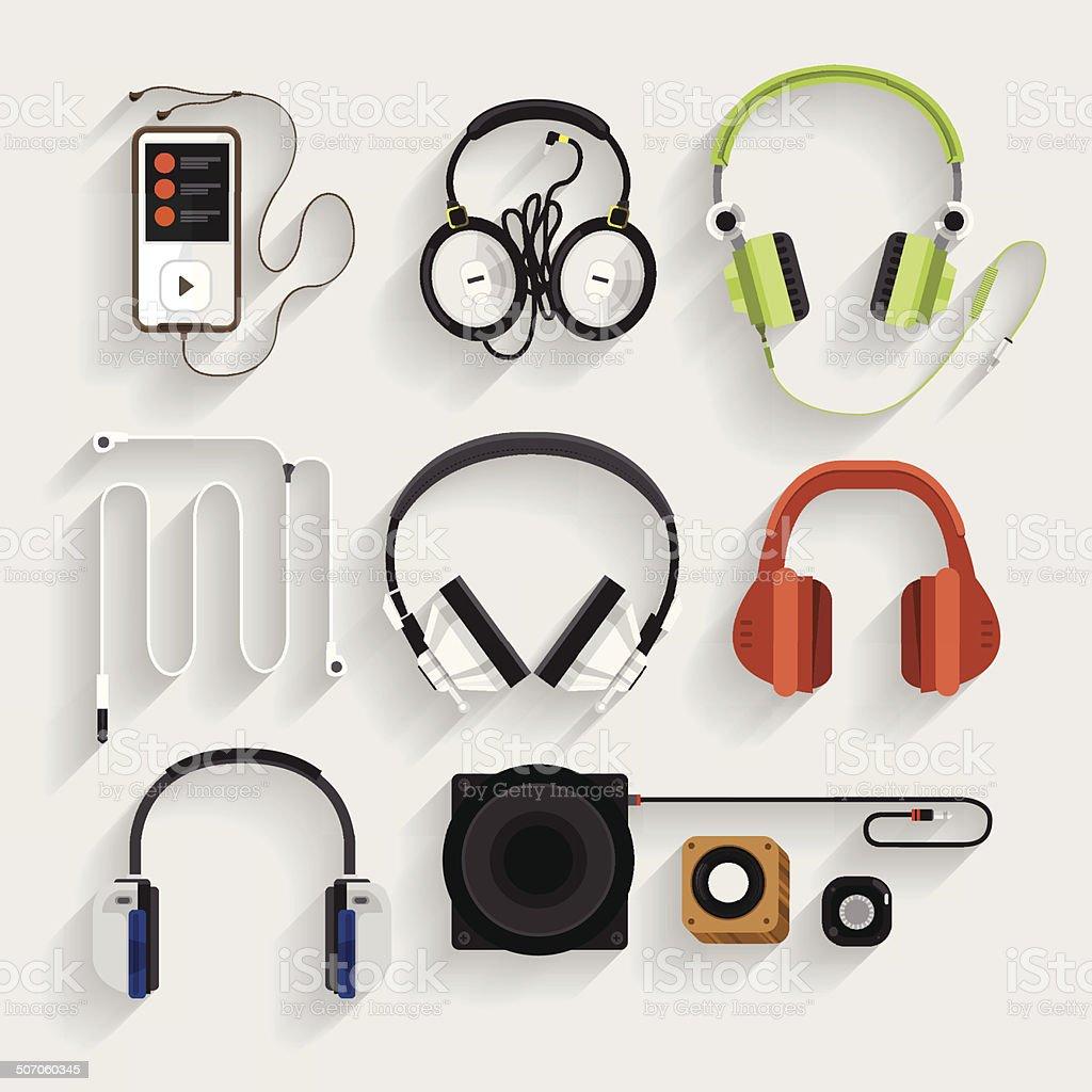 Headphone Illutrate vector art illustration