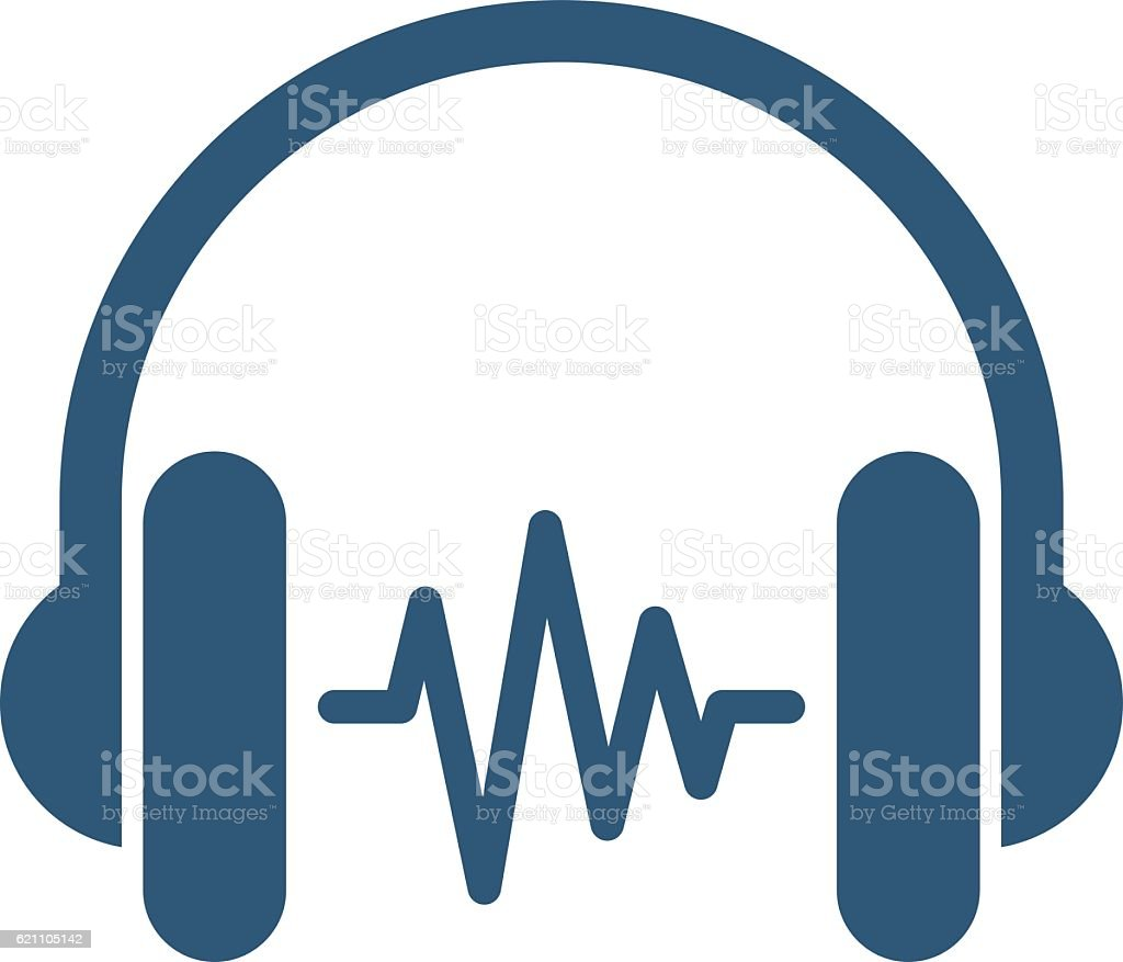 headphone with sound wave stock vector art more images of arts rh istockphoto com