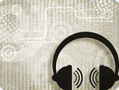 Headphones Background - Music Industry