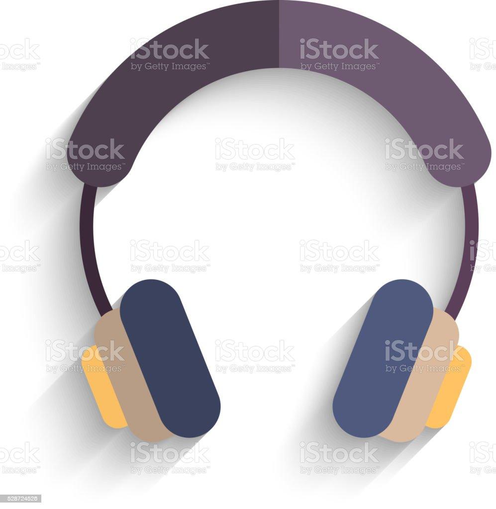 Écouteurs À Un Seul Sur Fond Blanc Illustration Vectorielle