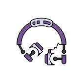 Headphones, headset, audio icon. Element of color music studio equipment icon. Premium quality graphic design icon. Signs and symbols collection icon