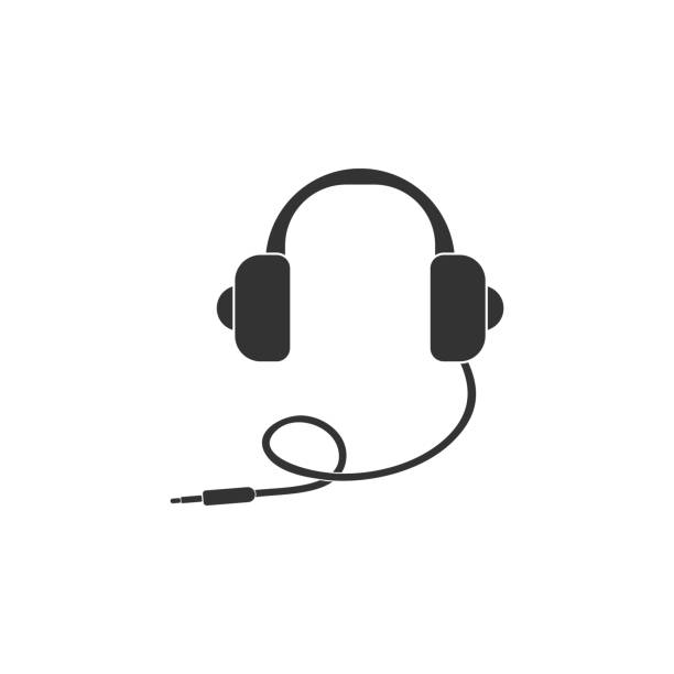 headphones icon. Detailed icon of musical instrument icon. Premium quality graphic design. One of the collection icon for websites, web design, mobile app headphones icon. Detailed icon of musical instrument icon. Premium quality graphic design. One of the collection icon for websites, web design, mobile app on white background cable stock illustrations