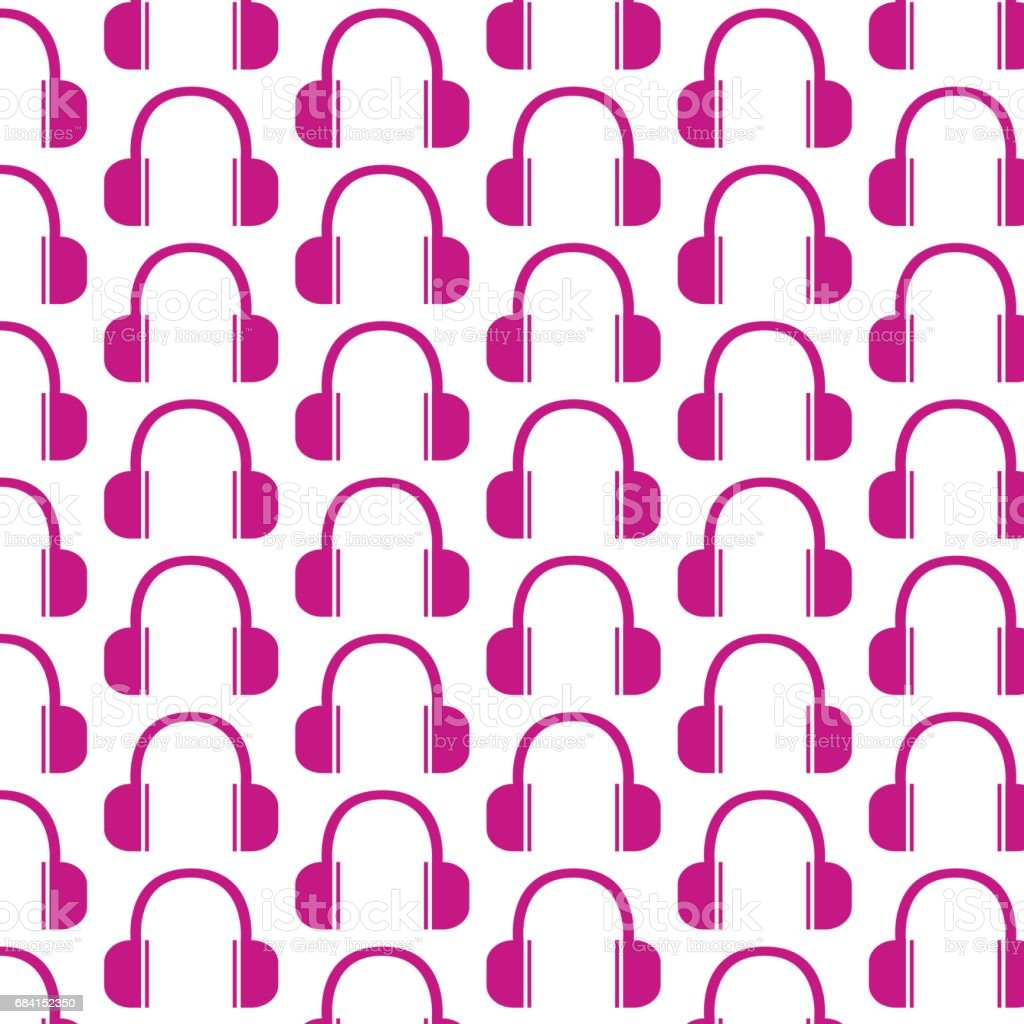 Headphones Icon pattern background headphones icon pattern background - immagini vettoriali stock e altre immagini di arredamento royalty-free