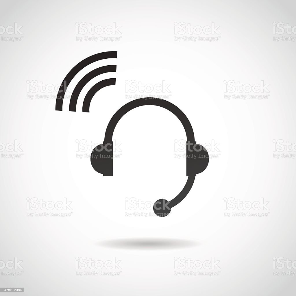 Headphones icon. vector art illustration