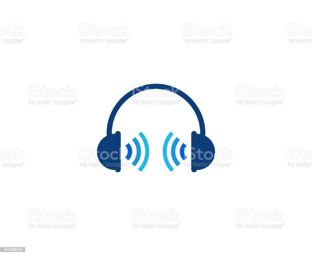 Headphones icon vector art illustration