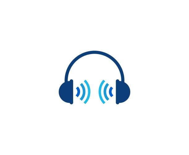 kopfhörer-symbol - podcast stock-grafiken, -clipart, -cartoons und -symbole