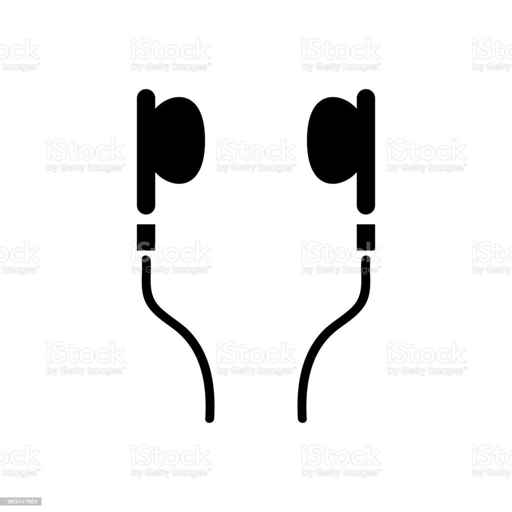 Kulaklık simgesi - Royalty-free Baş Vector Art