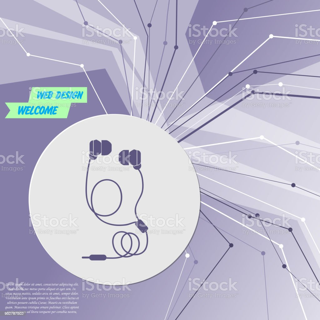 headphones icons on purple abstract modern background the lines in rh  istockphoto com hvac wiring diagram