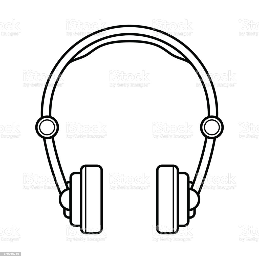 Line Art Headphones : Headphones line art simple gadget icon stock vector