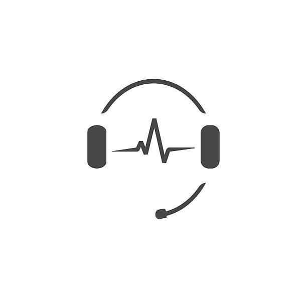 ilustrações, clipart, desenhos animados e ícones de fones de ouvido microfone, o som das ondas, o logotipo da estação de rádio - ícones de festas e estações
