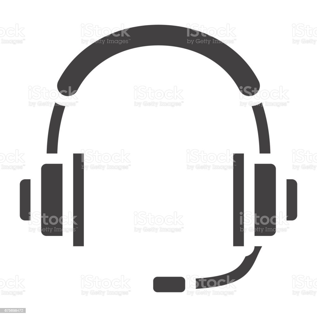 Headphones solid icon, call center and website button, vector graphics, a filled pattern on a white background, eps 10. royalty-free headphones solid icon call center and website button vector graphics a filled pattern on a white background eps 10 stock vector art & more images of arts culture and entertainment