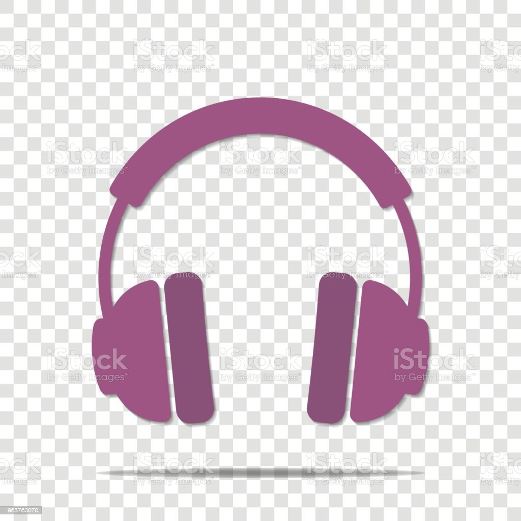 Headphones vector icon. Flat headphones icon. - Royalty-free Arts Culture and Entertainment stock vector