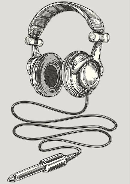Royalty Free Headphone Jack Clip Art, Vector Images
