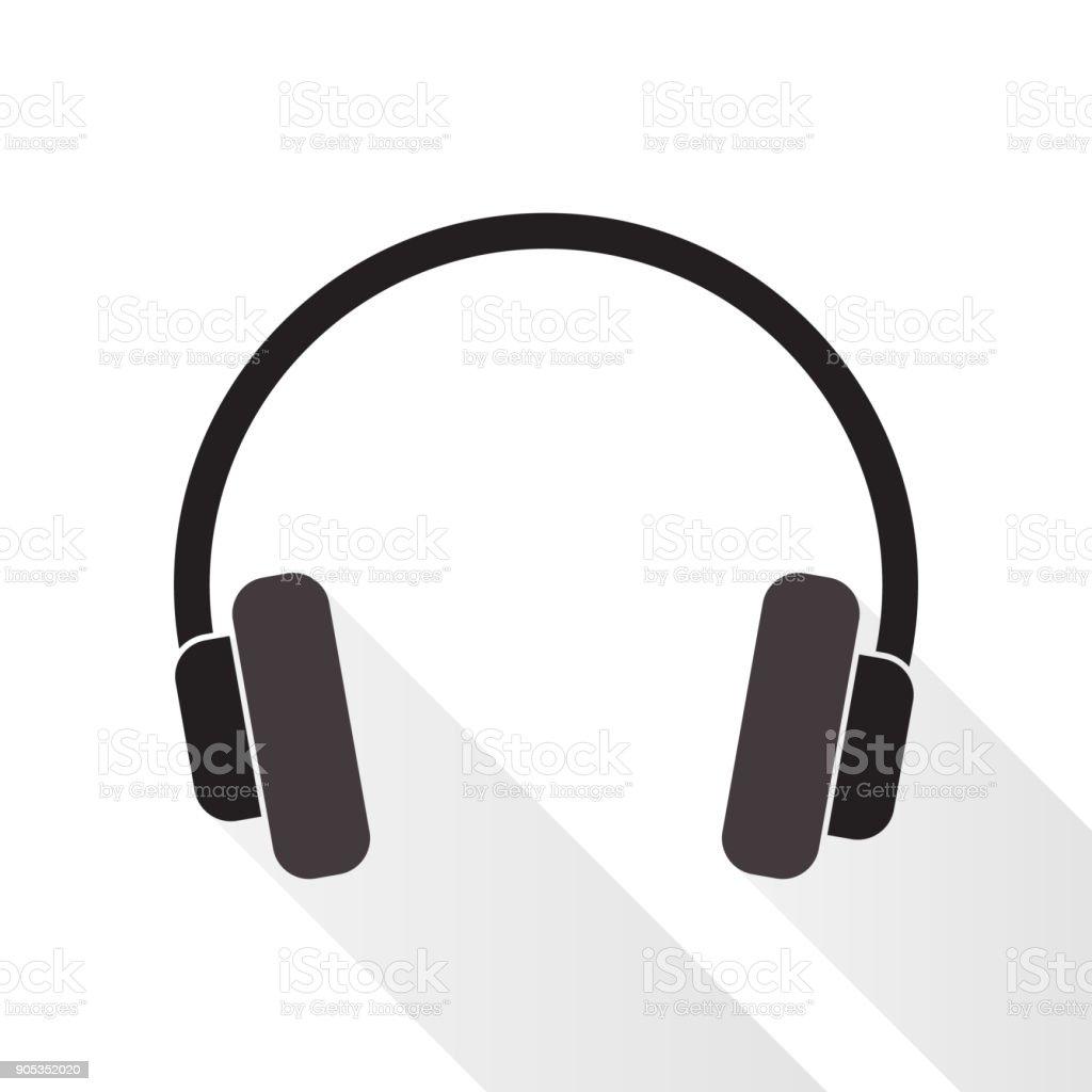 Hörlurar - Royaltyfri Använda telefon vektorgrafik